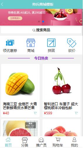 水果商城模板